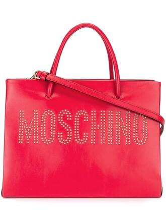 studded red bag