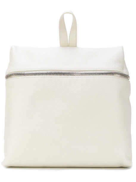 women backpack leather white bag