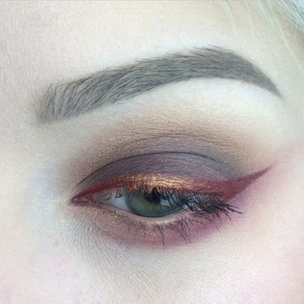Make Up Beautiful Eyeliner Eye Shadows Pink Rose Gold Liquid