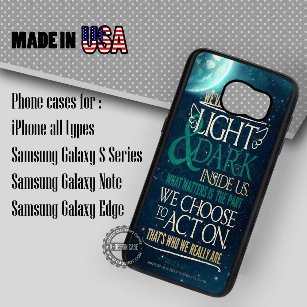 Samsung S7 Case - Black Harry Potter Quote - iPhone Case #SamsungS7Case #hp #yn