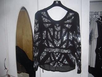 blouse black glitter beautiful classy party