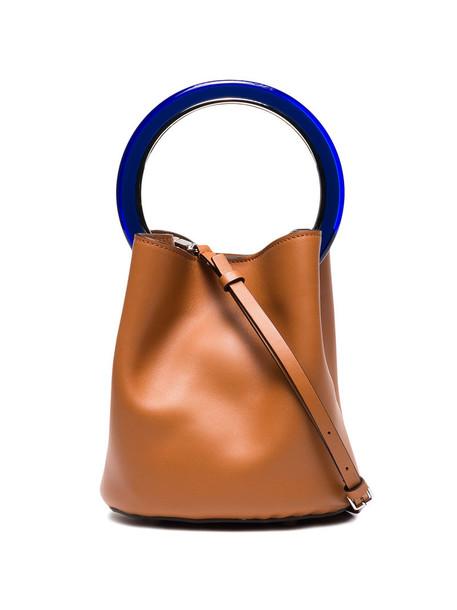 MARNI women bag bucket bag leather brown