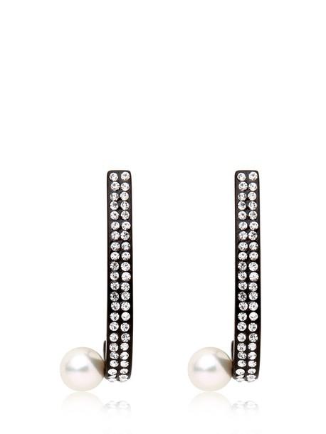 VITA FEDE Lia Comma Earrings in black