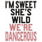"""i'm sweet she's wild we're dangerous (2 of 2)"