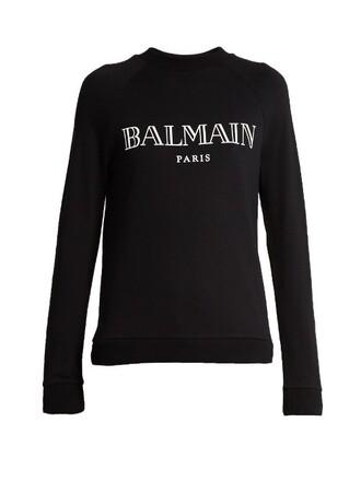sweatshirt print white black sweater