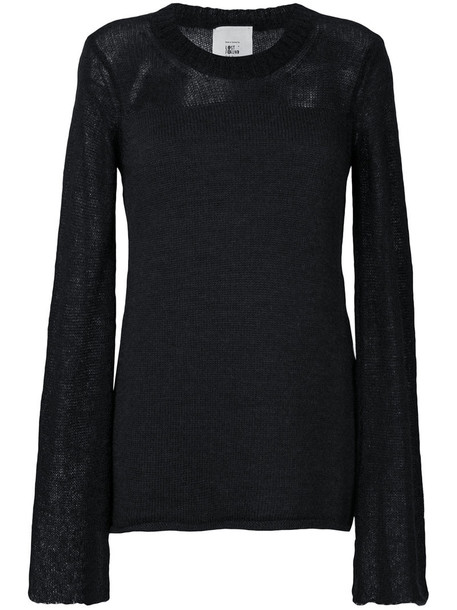 Lost & Found Rooms sweater women mohair black wool knit