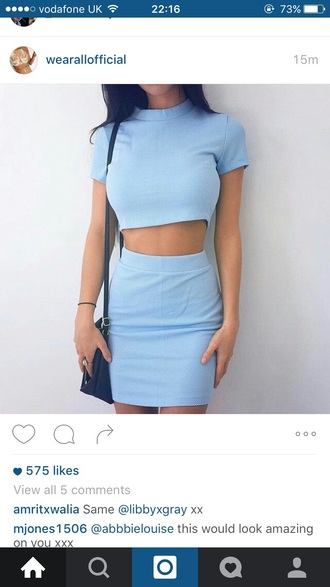 dress co ord blue pastel