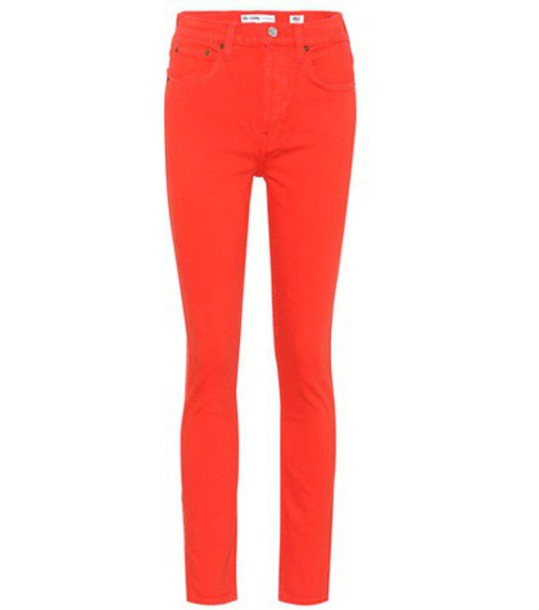 Re/Done jeans skinny jeans high red