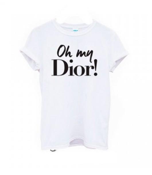 t-shirt dior oh my oh my dior white shirtk