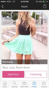 dress,blackandblue,lace,shirt,skirt,mint dress,minty skirt,black lace top,top,black top,summer dress,lace top,beautiful,blouse,silk skirt,mint,black