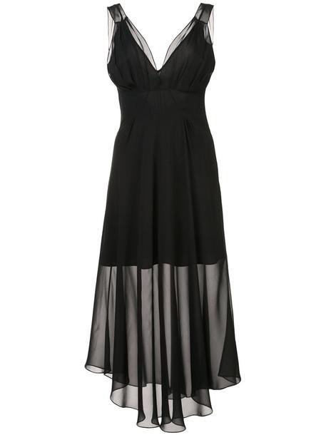 Fleur du Mal dress sheer women black silk