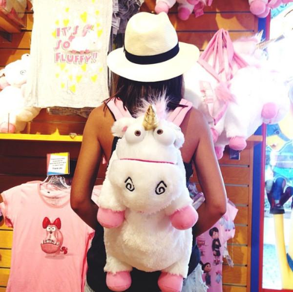 bag unicorn moi moche et mechant jewels fluffy backpack back to school