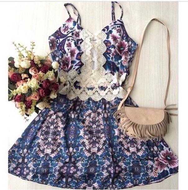 jumpsuit dress boho lace floral purse cute tumblr tumblr dress boho dress