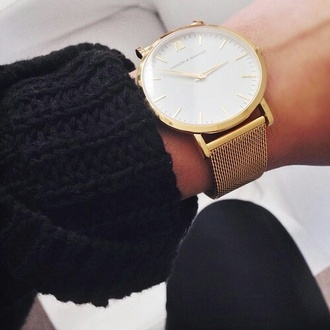 jewels watch sweater white gold black larsson and jennings