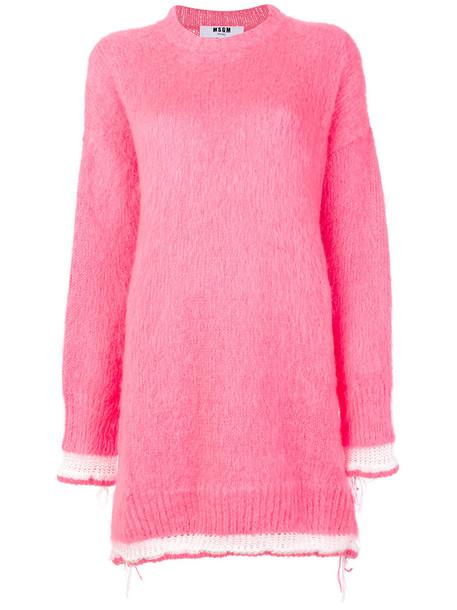 dress women mohair purple pink
