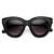 Indie Trendy Womens Block Cut Oversize Cat Eye Sunglasses 9160                           | zeroUV