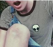 top,alien,stripes,t-shirt,sweater