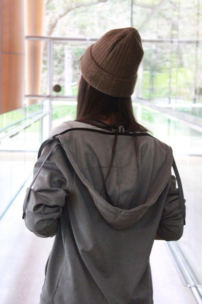jacket grey zip cozy