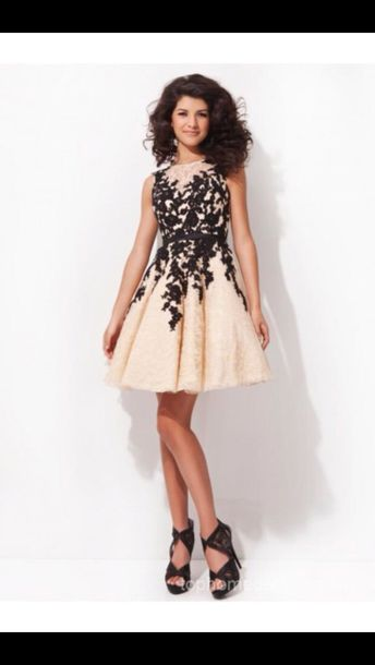 Cream Gorgeous Lovely Homecoming Dressess Homecoming Dress