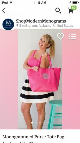 bag pink monogram purse big purse