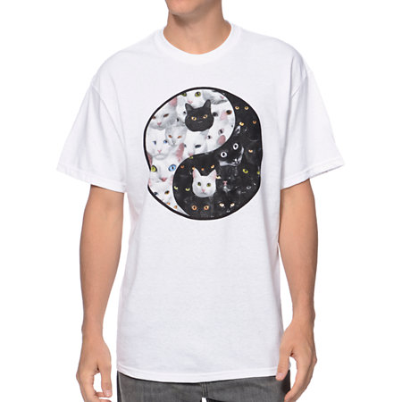 Lab Cat Yang White Tee Shirt at Zumiez : PDP