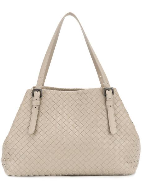 Bottega Veneta - large intrecciato tote bag - women - Lamb Skin - One Size, Nude/Neutrals, Lamb Skin
