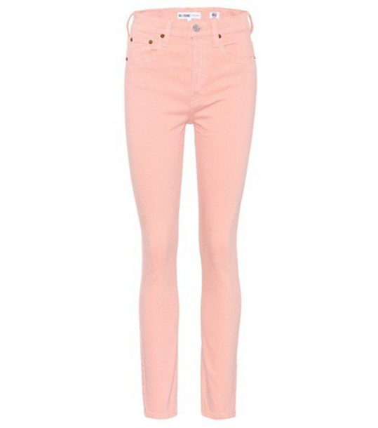 Re/Done jeans skinny jeans high pink