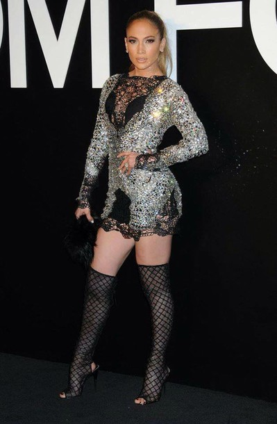 dress jennifer lopez lace dress sequin dress shoes boots mini dress