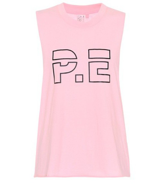 P.E Nation tank top top cotton pink