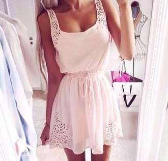dress white lace summer pretty short