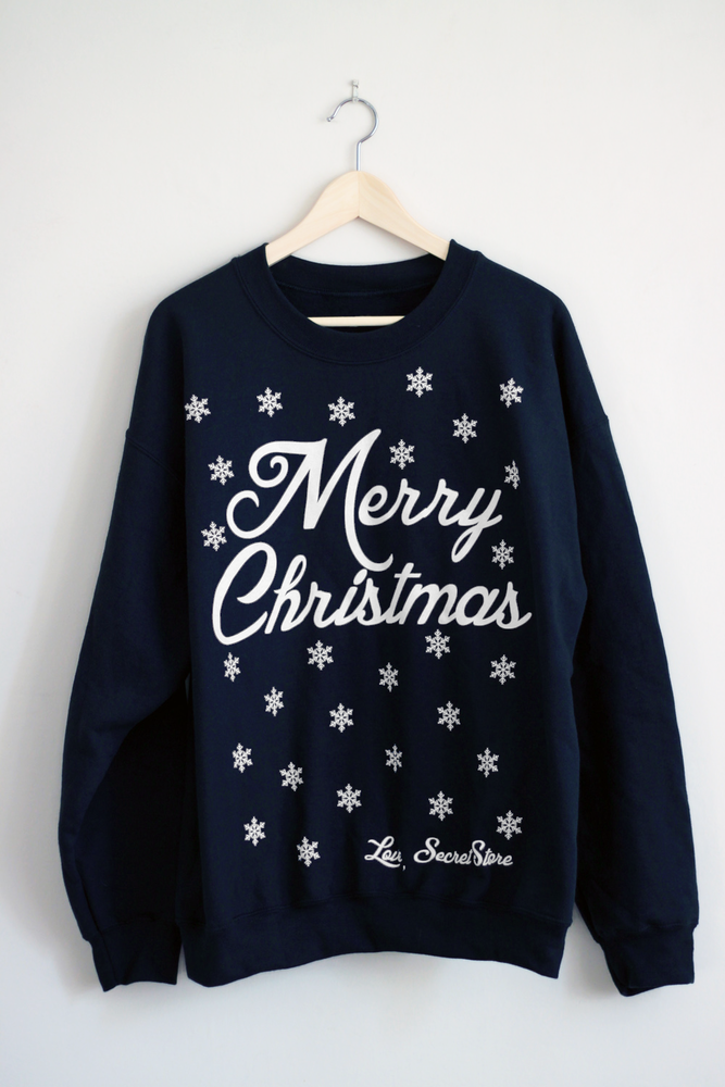 Secret Store — MERRY CHRISTMAS - Navy