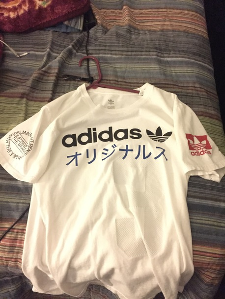 shirt the brand with 3 stripes adidas japanese
