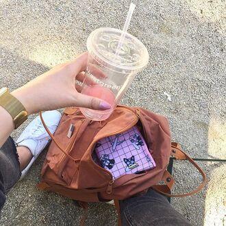 make-up yeah bunny bag makeup bag pink pastel travel cute frenchie dog