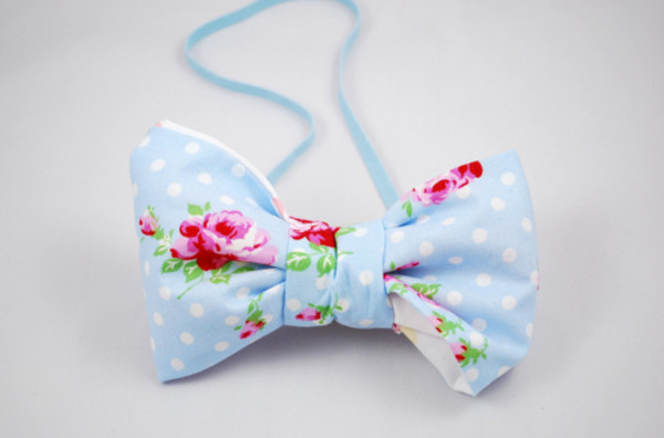 jewels cute floral blue bow fashion band bag
