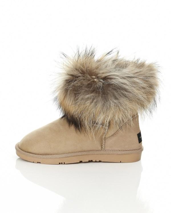 shoes nome shoes beige shoes fur