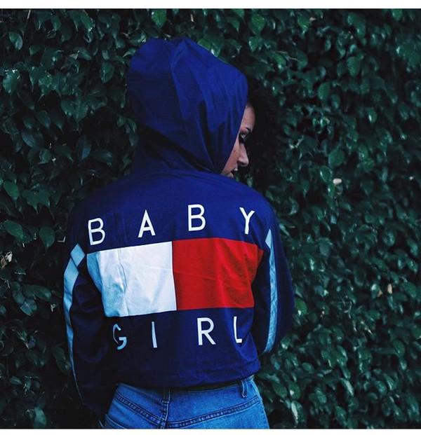 coat jacket windbreaker blue baby girl tommy hilfiger. Black Bedroom Furniture Sets. Home Design Ideas