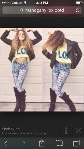 jeans mahogany lox