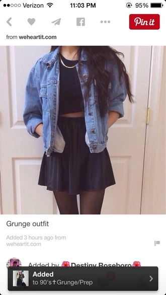 jacket denim jacket grunge