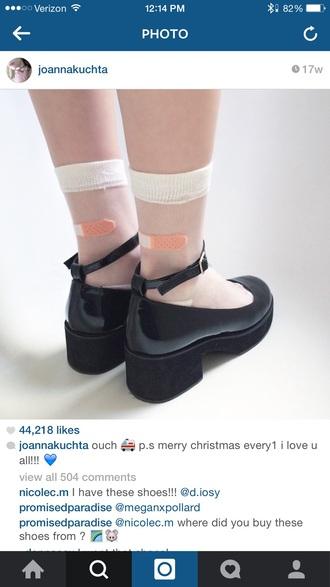 shoes black heels aesthetic
