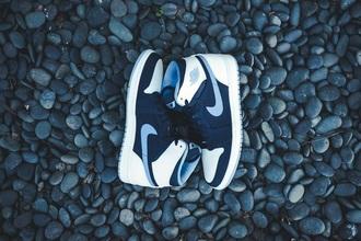shoes jordan jordans jordans 1s nike nike shoes white blue running running shoes