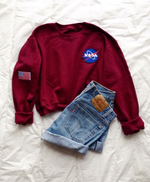 sweater mauve nasa