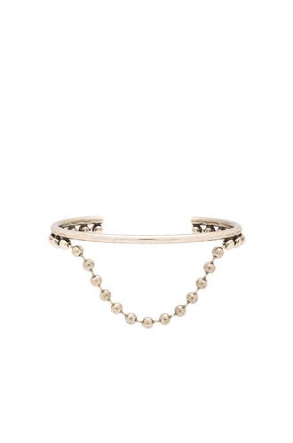 cuff pearl ball metallic silver jewels