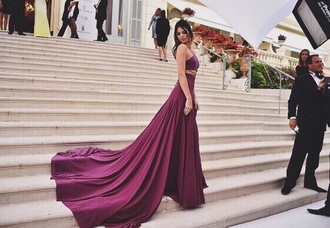 dress kendall jenner purple dress