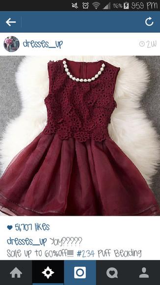 short dress maroon dress