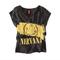 Nirvana pattern women t shirt fashion tee tops