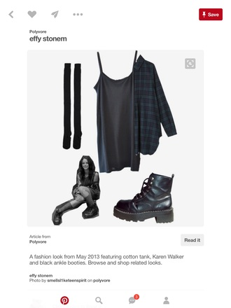 dress black strappy short dress all black everything drmartens knee high socks black dress back to school grunge