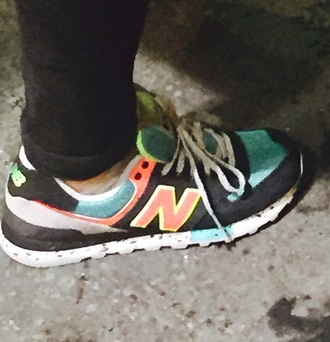 shoes black sneakers new balance orange orange shoes green sneakers black shoes