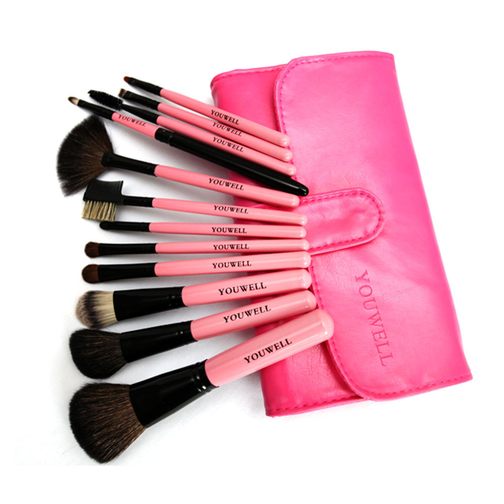 [grxjy5140014]Professional Beauty Makeup 12 pcs Makeup Brushes Set with a case