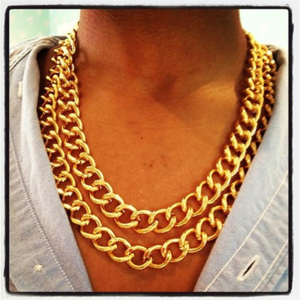 jewels gold chains necklace