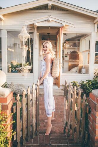 barefoot blonde blogger top jeans shoes jumpsuit swimwear romper t-shirt